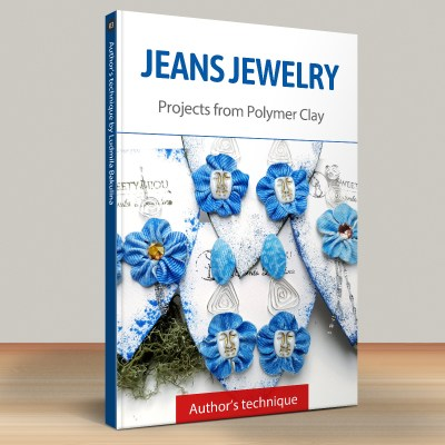 Faux Jeans/Denim Fabric: Part.4 Jeans Earrings, Style 2
