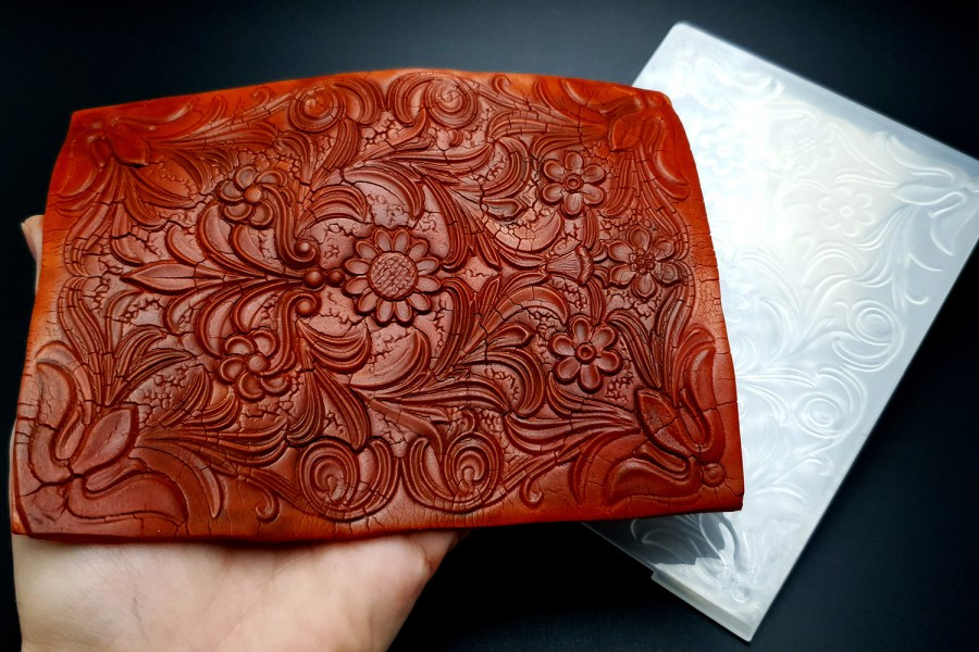 Tooled Leather Flowers (10.5x14.5) 5
