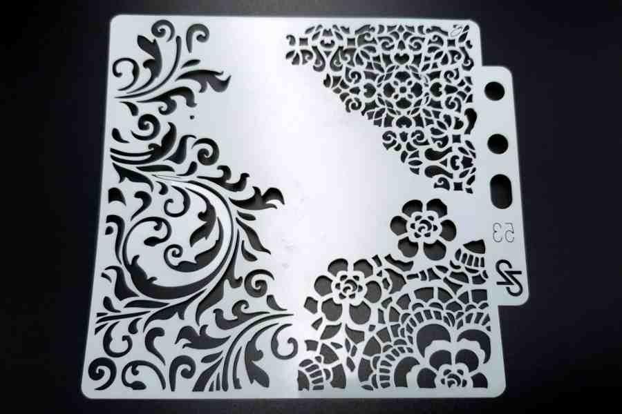 """Set of 4 pcs """"Floral"""" Plastic Stencils 13"""