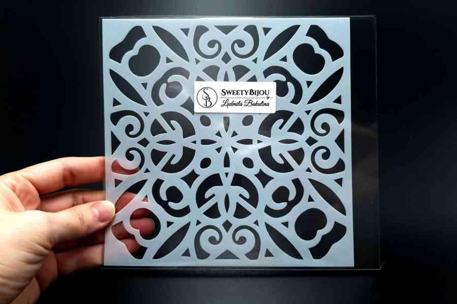 Simple Mandala Plastic Stencil (1pcs) 2