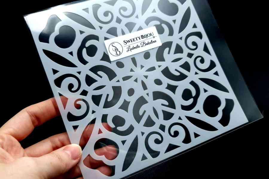 Simple Mandala Plastic Stencil (1pcs) 1