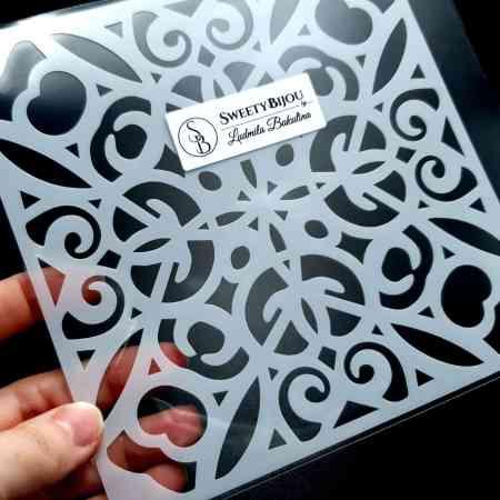 Simple Mandala Plastic Stencil (1pcs)