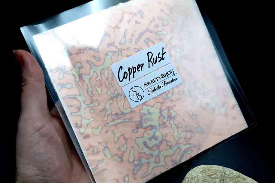 Copper Rust Metal Leafs (10pcs 14x14cm) 6
