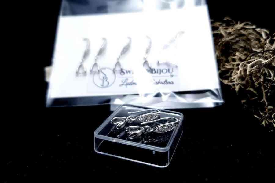 Genuine 925 Sterling Silver Clasp Hook Earrings Findings 2
