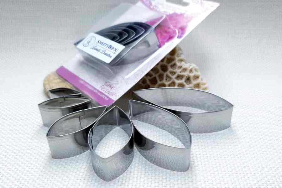6-pcs Stainless Steel Dahlia Flower Petals Cutters 8