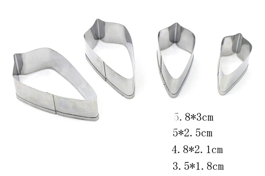 4-pcs Stainless Steel Jewelry Shapes Cutters 11