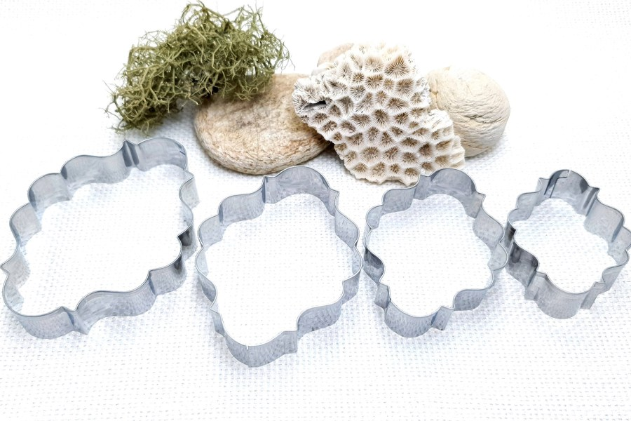 4 pcs Stainless Steel Oval Shaped Cookie Cutters 5