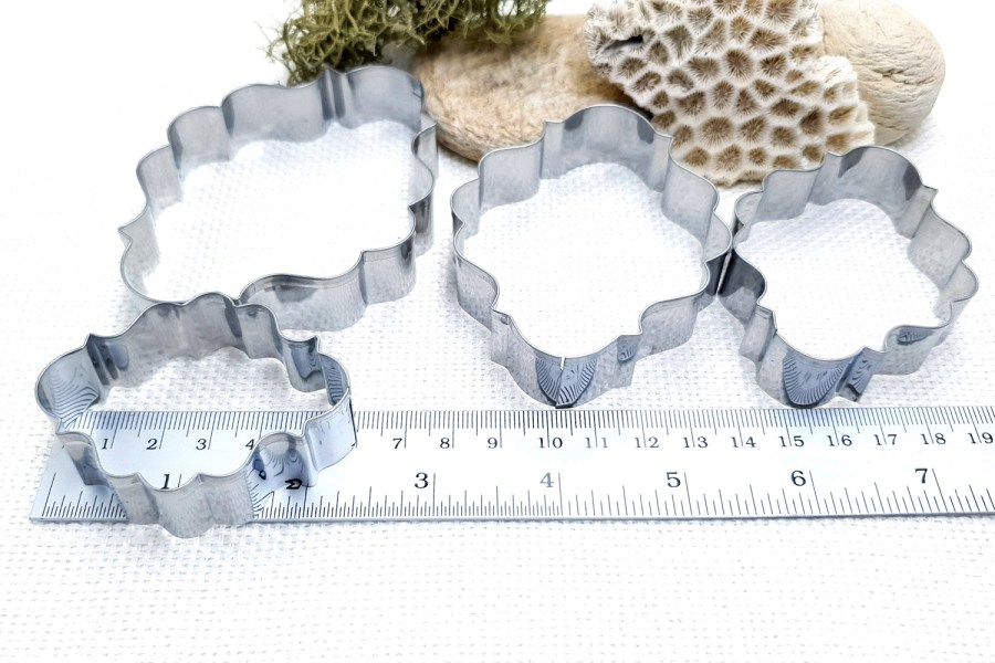 4 pcs Stainless Steel Oval Shaped Cookie Cutters 8