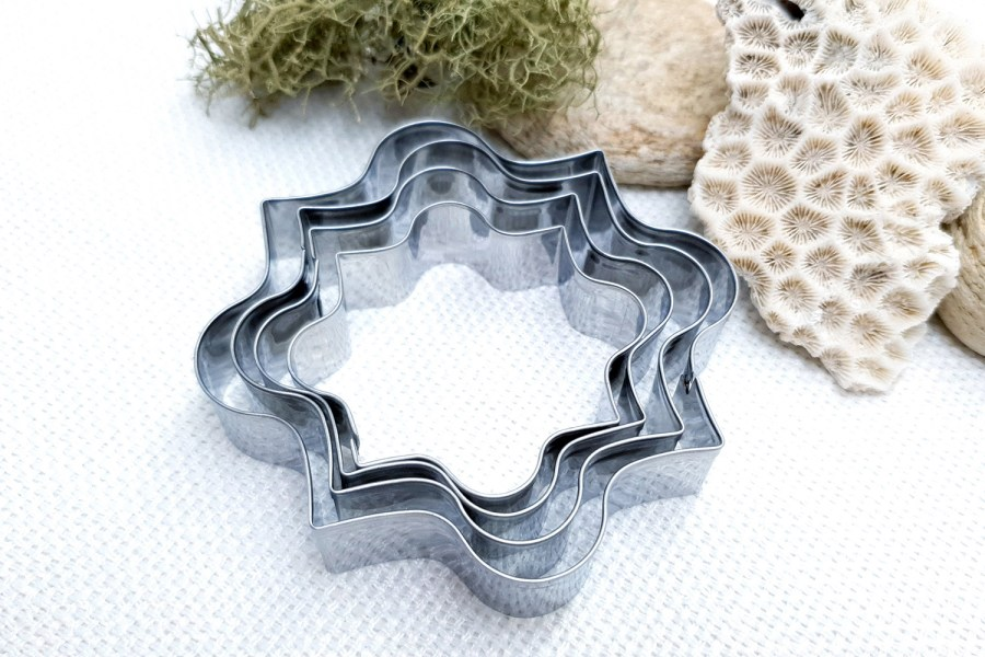 4 pcs Stainless Steel Square Shaped Cookie Cutters 5