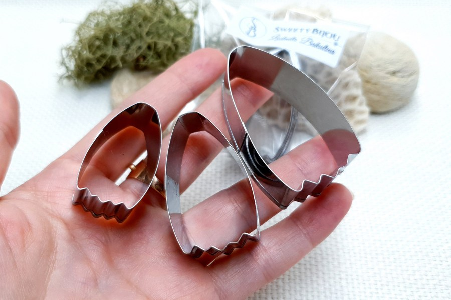 """Set of 3 Cutters for Polymer clay """"Petal"""""""