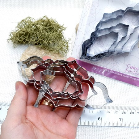 4 pcs Stainless Steel Long Shaped Cookie Cutters