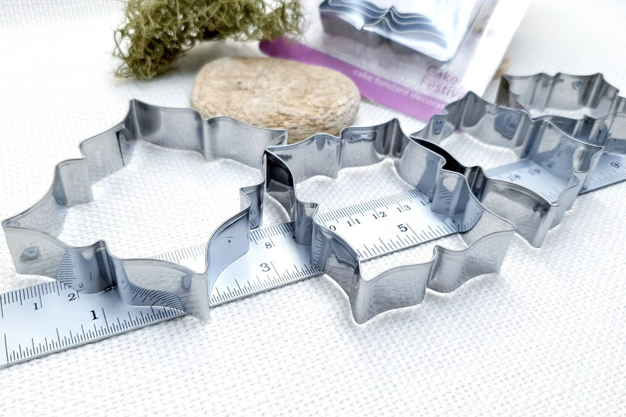 4 pcs Stainless Steel Rectangle Cookie Cutters 4