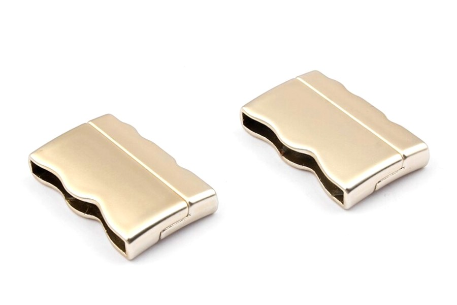 2 pcs set of golden color magnetic clasps 7