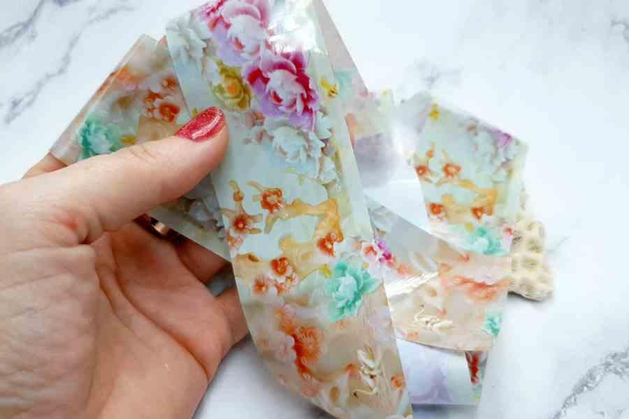 Peonies Flowers Pattern - Transfer Foil pattern 1 pc - 4x100cm 1