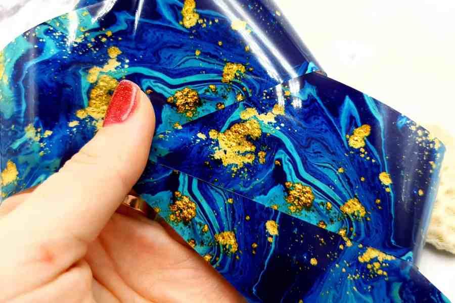 Deep blue weaves pattern, transfer foil pattern