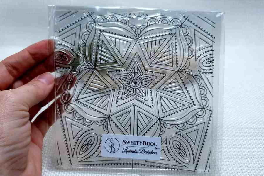 Mandala Star - Clear Silicone Stamp 1