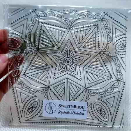 Mandala Star – Clear Silicone Stamp