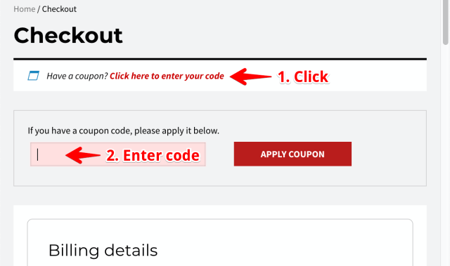 How to use coupon code?