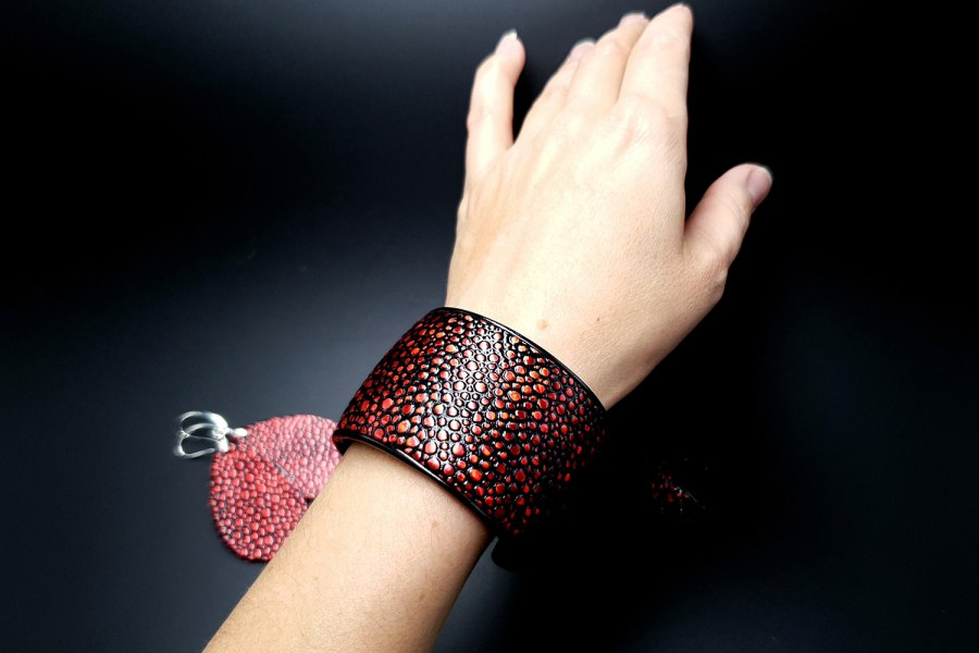 """Red Magic"" Bracelet&Ring 1"