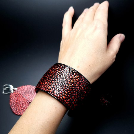 """Red Magic"" Bracelet&Ring"