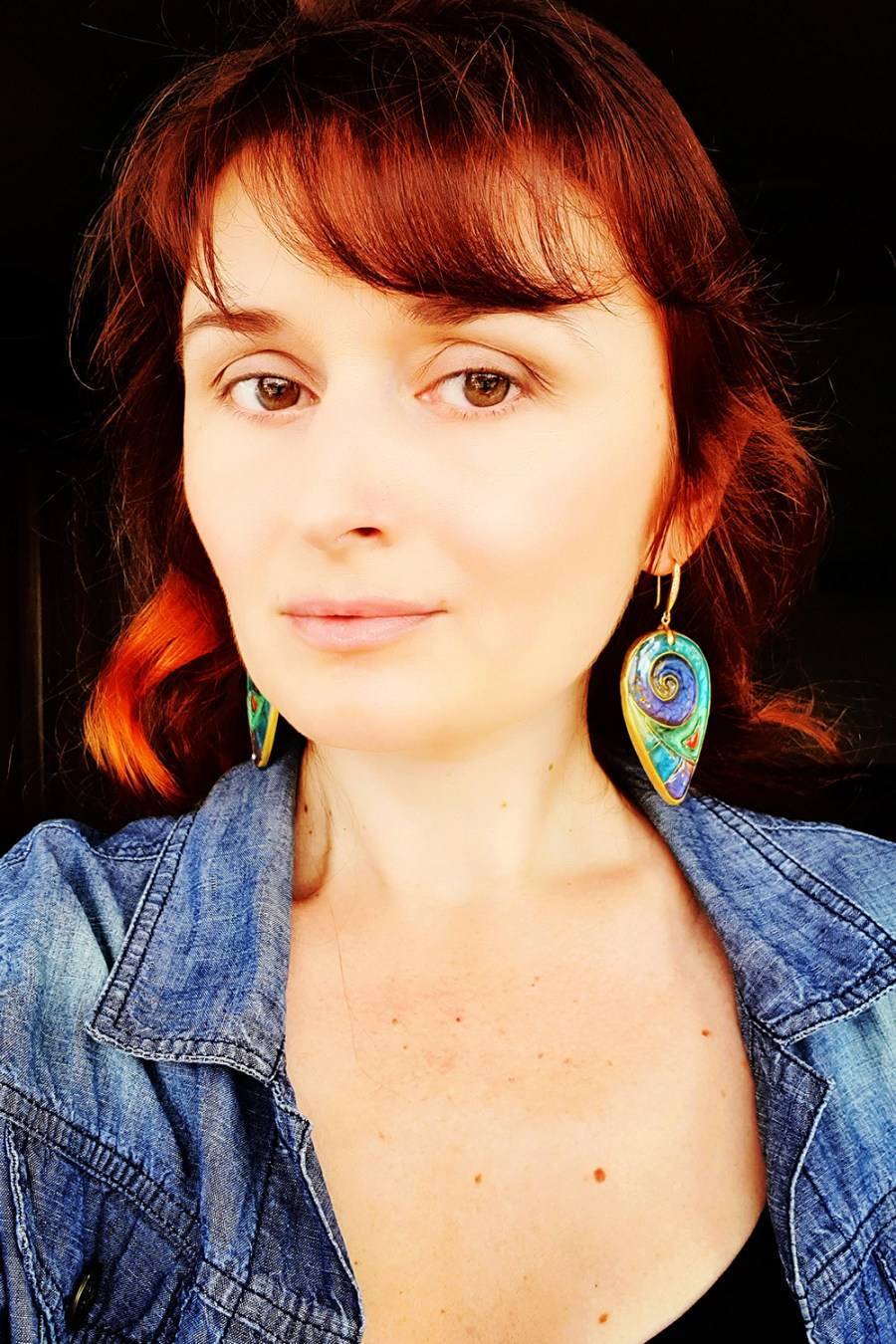 """Magic Swirls"" polymer clay earrings 10"