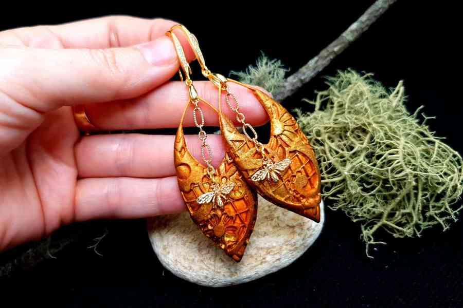"""Earrings """"Eldorado"""" with Bees 2"""