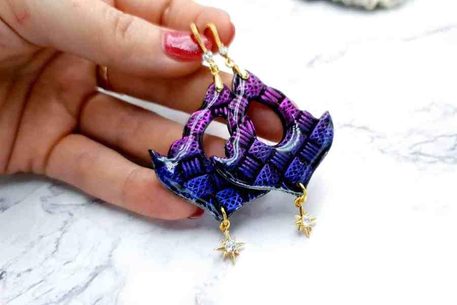 "Earrings ""Violet Anchor"""