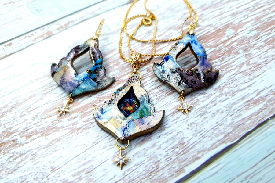 """""""Magical Flower"""" Jewelry set"""