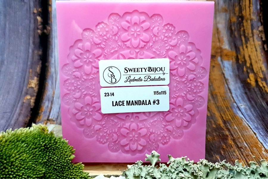 Lace Mandala #3 - 115x115mm 6