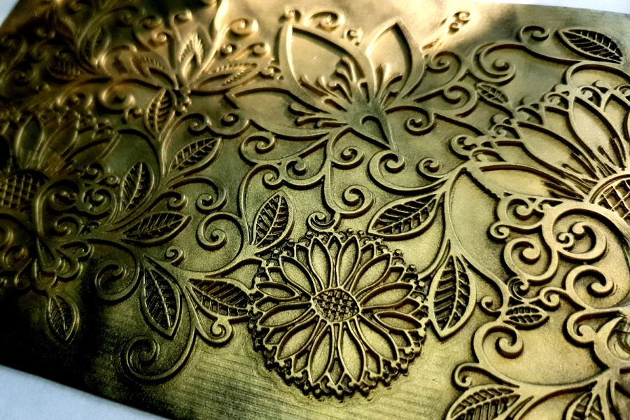 Sunflowers Lace - 120x175mm 4