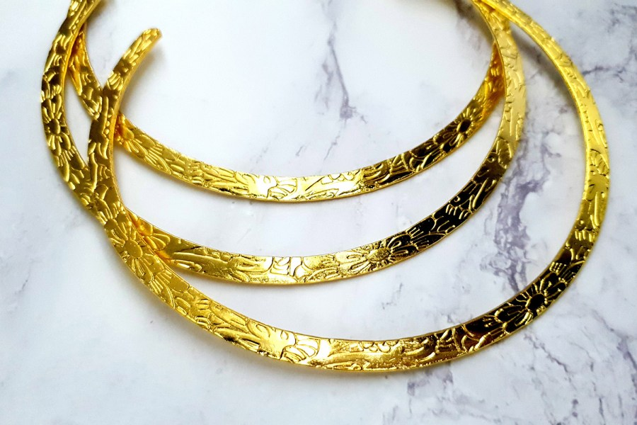 3 Pieces Of Golden Metal Necklaces For Pendant 8