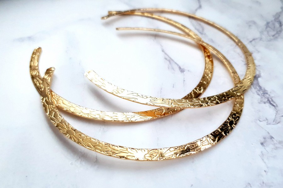 3 Pieces Of Rose Gold Metal Necklaces For Pendant 8