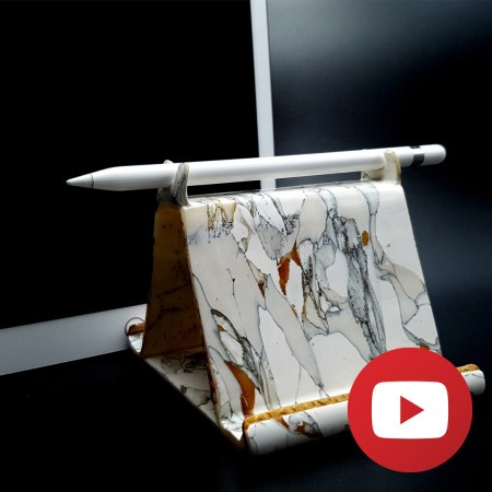 Faux marble iPhone/iPad Holder