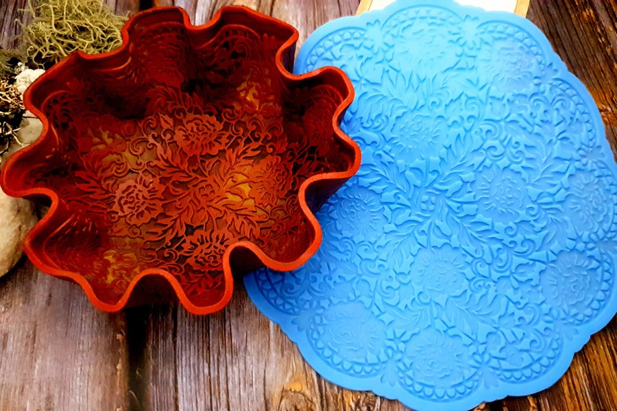 Large Round Lace Silicone Texture (190x190mm) 1