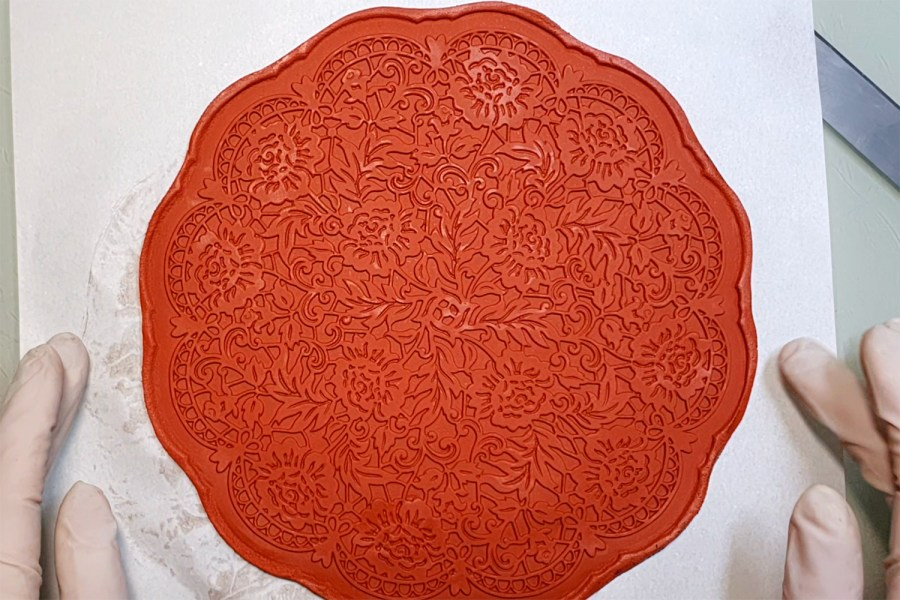 Large Round Lace Silicone Texture (190x190mm) 7