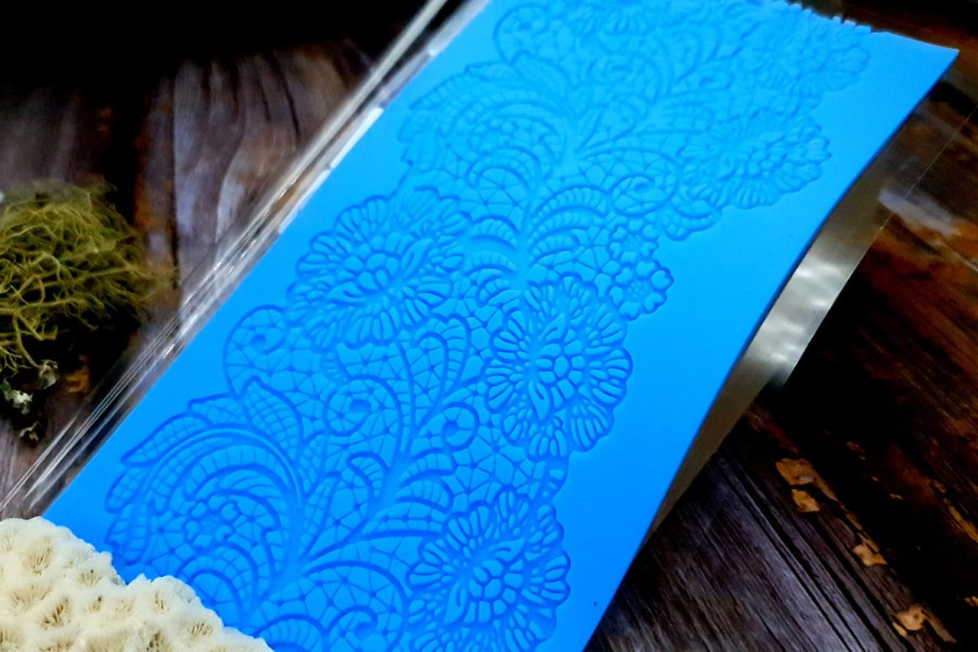 Detailed Flowers Lace Silicone Texture (95x190mm) 2