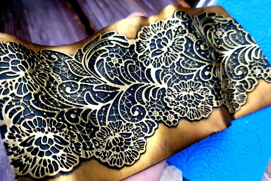 Detailed Flowers Lace Silicone Texture (95x190mm) 8