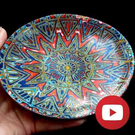 How to make unique Moroccan jewelry dish