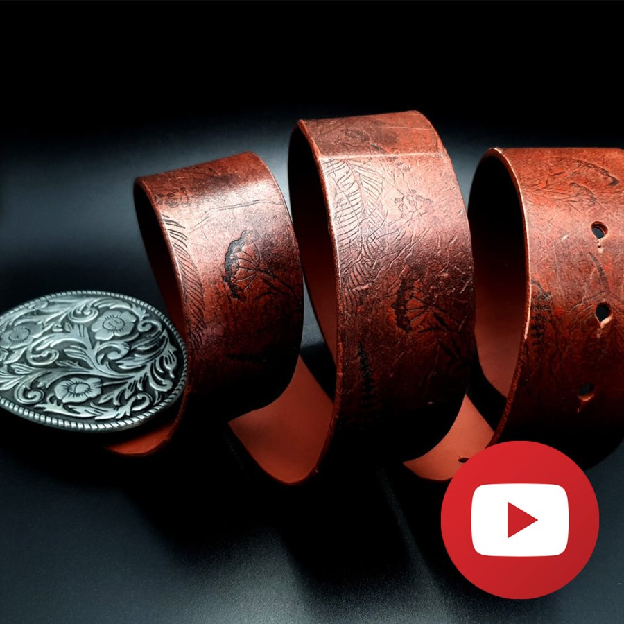 How to create a faux leather BELT