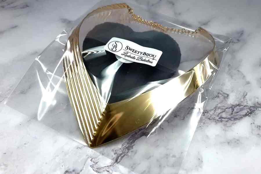 V Shape Golden color metal base necklace 3