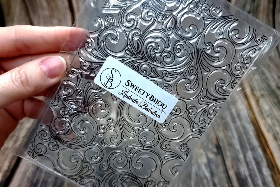 Floral Background Pattern Transparent Clear Silicone Stamp (11x16cm) 7