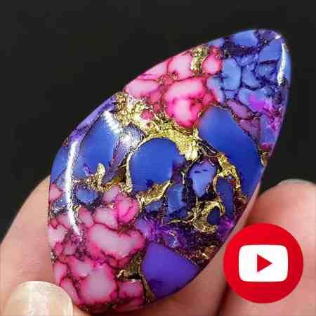 How to make Purple Turquoise stone imitation