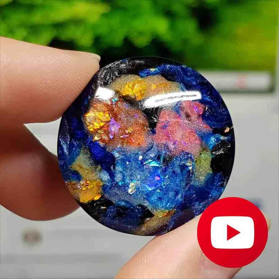How to make Super Realistic Opal stone imitation