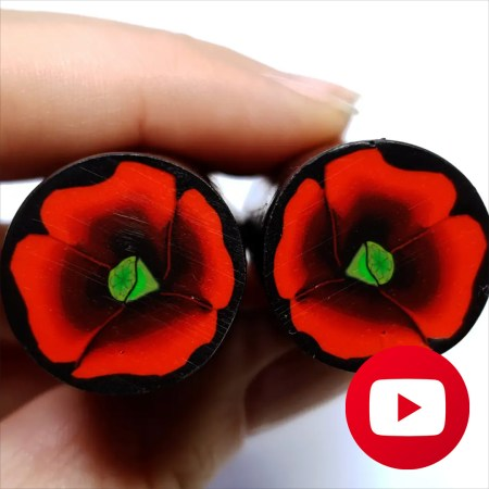 How to make unique poppy flower cane