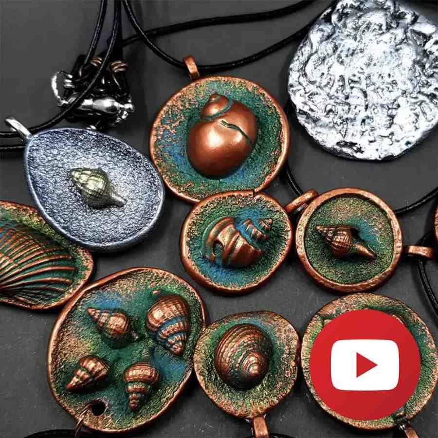 How to make seashells pendants with shell molds