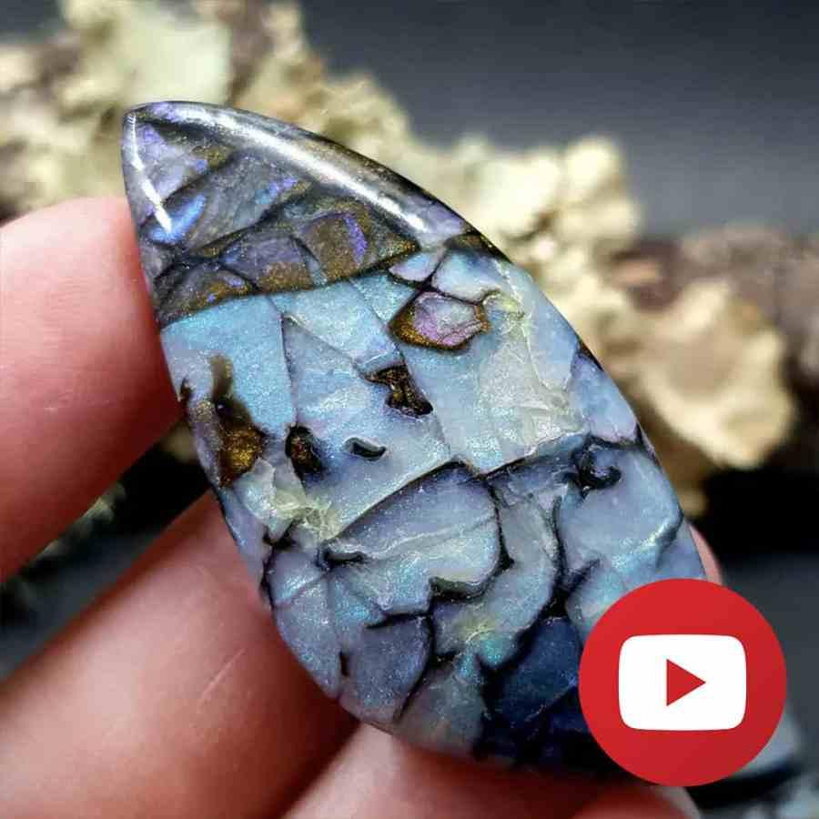How to make realistic boulder opal stone. Unique technique 1