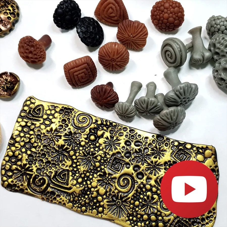 How to make handmade stamps for polymer clay