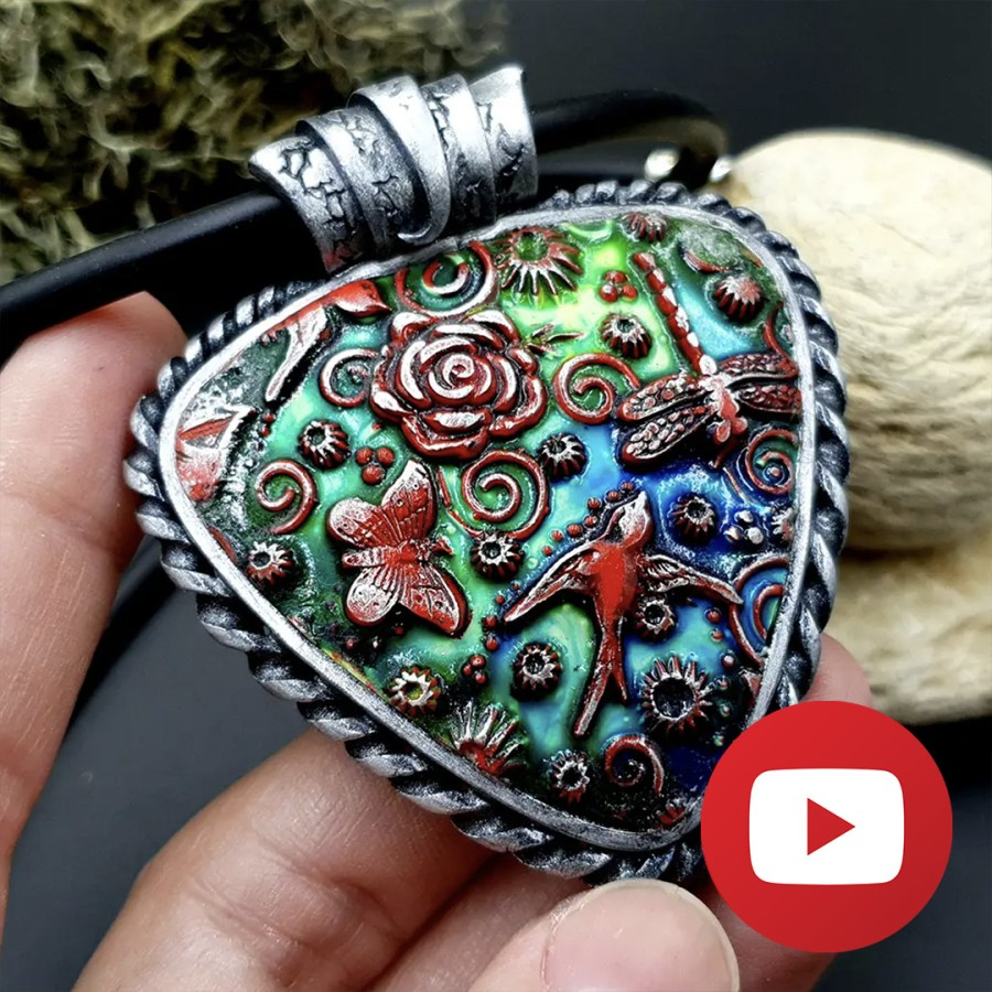 How to make a spring pattern pendant 1