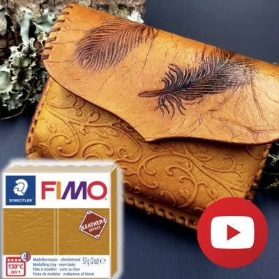 How to make faux leather belt bag - FIMO leather effect