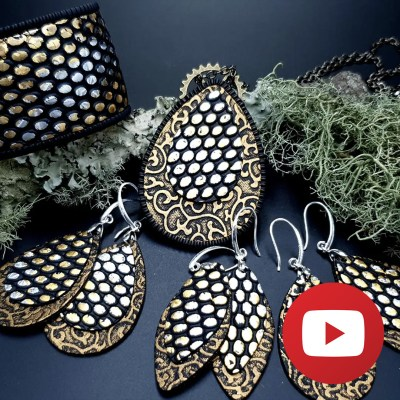 How to make polymer clay retro earrings and pendant